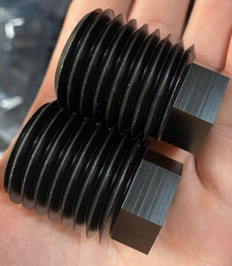 Black POM Barrel Screw Nuts