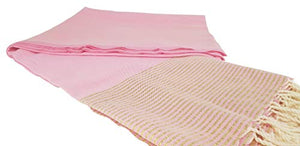 Premium Bath Beach Towel (Lurex Light Pink)