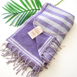 Premium Bath Beach Towel (Purple sponge)