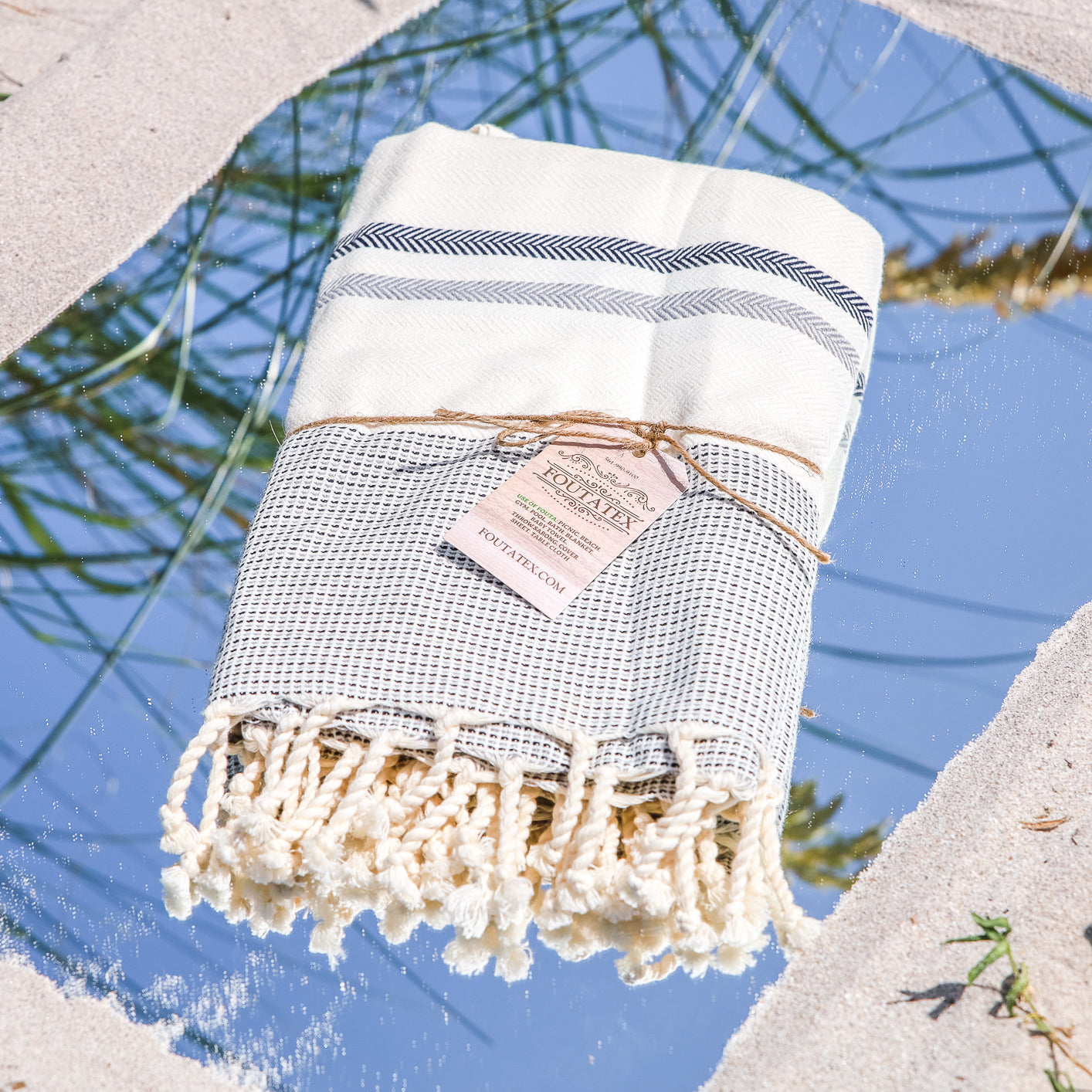 Premium Bath Beach Towel (Jirida L Grey)