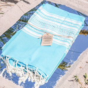 Premium Bath Beach Towel (Fouta L.Blue)