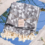Premium Bath Beach Towel (Grey Dimand)