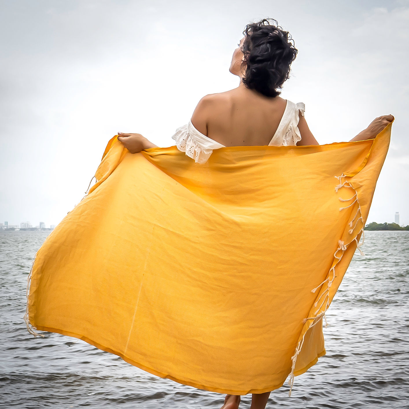 Premium Beach bath Towel  (Chevron Jaune)