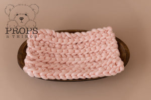 Chunky Bump Blanket Soft Pink