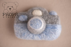 Felted Camera Baby Blue