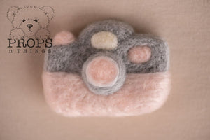 Felted Camera Baby Pink