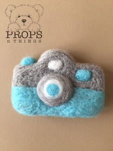 Felted Camera Blue