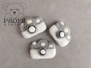 Felted Camera White