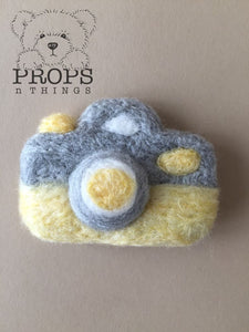 Felted Camera Yellow