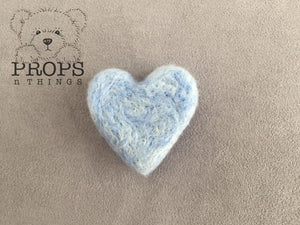 Felted Hearts Baby Blue