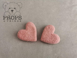 Felted Hearts Dusty Pink