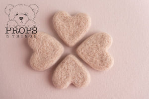 Felted Hearts Neutral