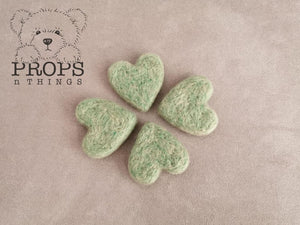 Felted Hearts Sage