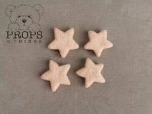 Felted Stars Baby Pink