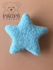 Felted Stars Blue