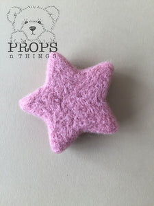 Felted Stars Dusty Pink