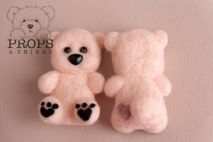 Felted Teddy Baby Pink