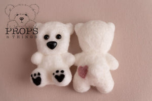 Felted Teddy White