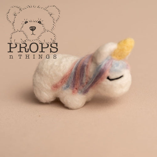Felted Unicorn Prop