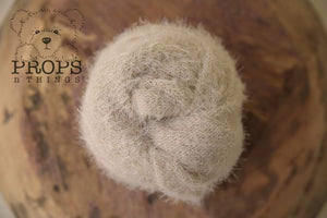 Fluffy Stretch Knit Stone