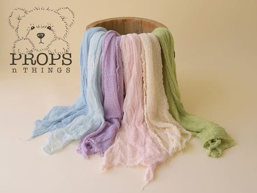 Hand-Dyed Cheesecloth Wraps