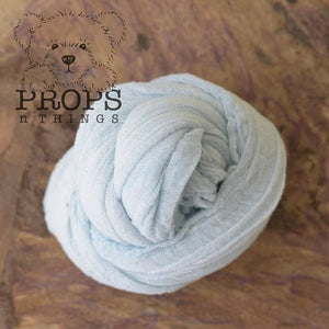 Hand-Dyed Cheesecloth Wraps Baby Blue