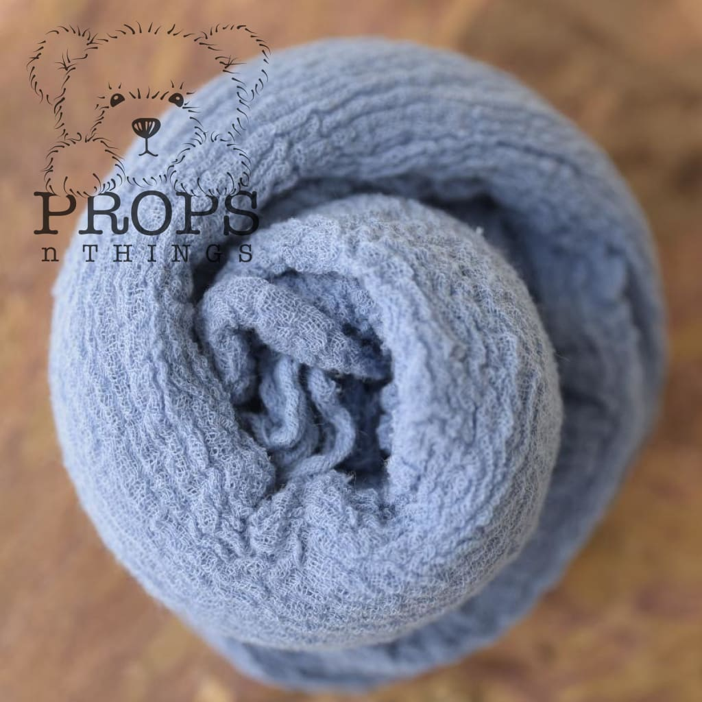 Hand-Dyed Cheesecloth Wraps Denim