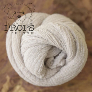 Hand-Dyed Cheesecloth Wraps Dove Grey