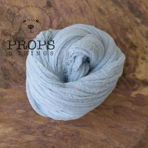 Hand-Dyed Cheesecloth Wraps Marine Blue