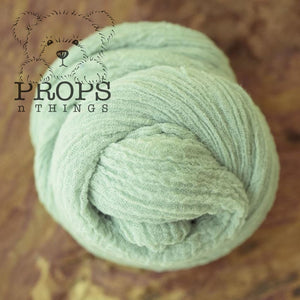 Hand-Dyed Cheesecloth Wraps Mint