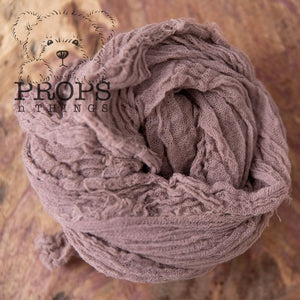 Hand-Dyed Cheesecloth Wraps Neutral