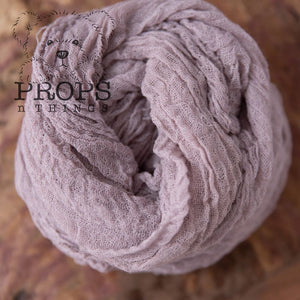 Hand-Dyed Cheesecloth Wraps Pale Lavender