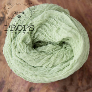 Hand-Dyed Cheesecloth Wraps Sage