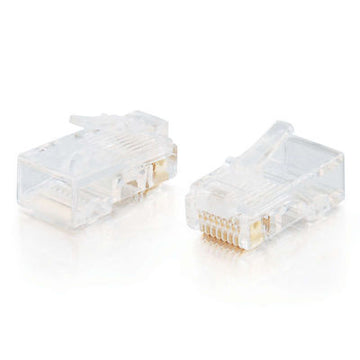 CABLES TO GO 01949 RJ45 Cat5 8x8 Modular Plug for Flat Stranded Cable - 100pk