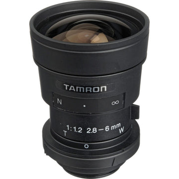 "TAMRON 13VG286-SQ 1/3"" Vari-Focal Lens - 2.8-6mm F/1.2 Aspherical w/Connector"