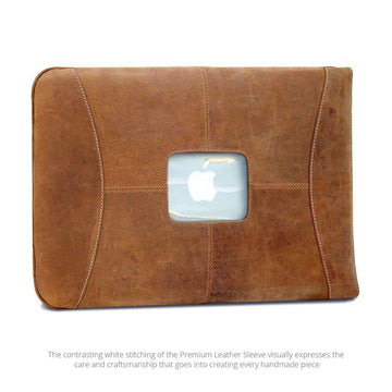 "MAC-CASE L15SL-VN Premium Leather 15"" MacBook Pro Sleeve (Vintage)"