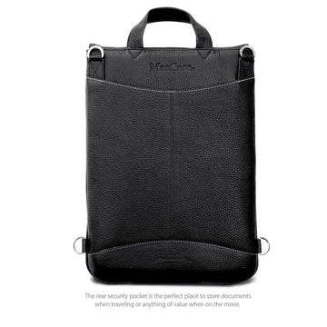 "MAC-CASE L13FJ-BK-BP Premium Leather 13"" MacBook Flight Jacket w/Backpack Straps (Black)"
