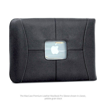 "MAC-CASE L15SL-BK Premium Leather 15"" MacBook Pro Sleeve (Black)"