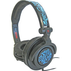 MAXELL 190265 AMPlified Tribal Glow Heavy Bass Headphone - Blue