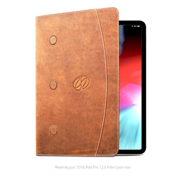 MAC-CASE LG3-12.9FL-VN Premium Leather iPad Pro 12.9 3rd Generation Case (Vintage)