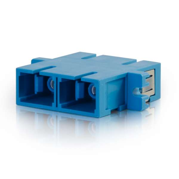 CABLES TO GO 27111 SC/SC Duplex Single-Mode Fiber Optic Coupler (TAA Compliant)