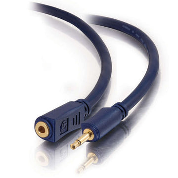 CABLES TO GO 40624 1.5ft Velocity™ 3.5mm M/F Mono Audio Extension Cable