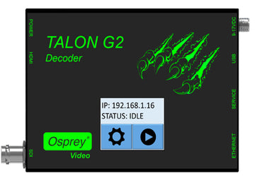 OSPREY 96-02021 Talon G2 Decoder (SDI, HDMI & Display w/ Touch Display)