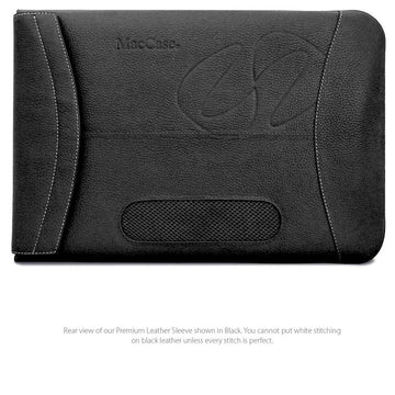 "MAC-CASE L16SL-BK Premium Leather 16"" MacBook Pro Sleeve (Black)"