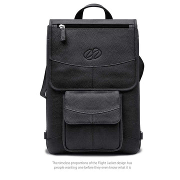 "MAC-CASE L16FJ-BK-BP Premium Leather 16"" MacBook Pro Flight Jacket w/Backpack Straps (Black)"