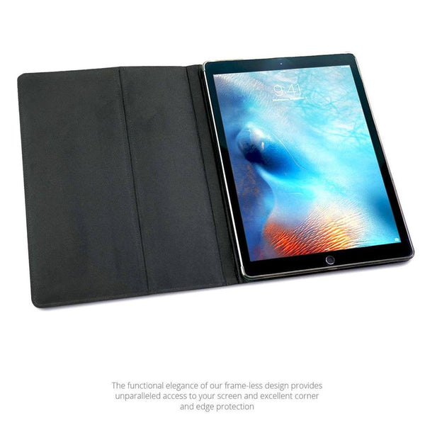 MAC-CASE LS12.9FL-BK Premium Leather iPad Pro 12.9 Case (Gen 1-2) (Black)