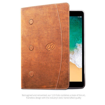 MAC-CASE LS12.9FL-VN Premium Leather iPad Pro 12.9 Case (Gen 1-2) (Vintage)