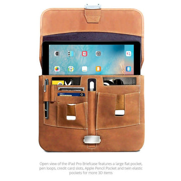MAC-CASE LPHB-VN Premium Leather iPad Pro Briefcase (Vintage)