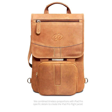 MAC-CASE LPFJ-VN-BP Premium Leather iPad Pro 12.9 Flight Jacket w/Backpack Straps (Vintage)