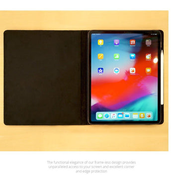 MAC-CASE LS11FL-BK Premium Leather iPad Pro 11 Case (Black)